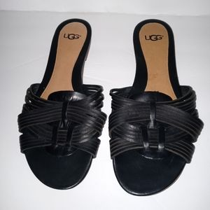 UGG Chanez Leather Slide Sandals